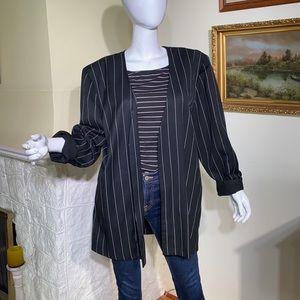 Vintage Panache Oversized Pin Stripe Jacket